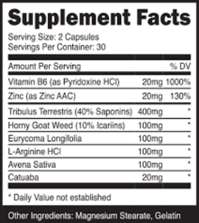 Vigorexin ingredients